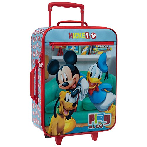 Disney-Mickey-Play-Equipaje-de-Mano-315-Litros-Color-Rojo-0